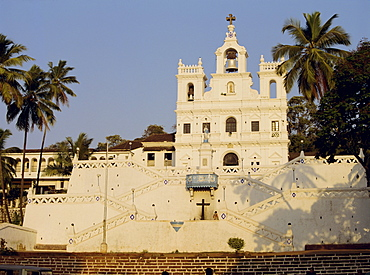 The Church of Our Lady of the Immaculate Conception, and large bell, Panjim, Goa, India