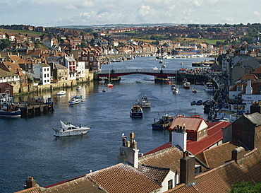 Whitby Harbour, Whitby, North Yorkshire, England, United Kingdom, Europe - 59-3389