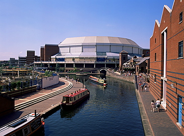 Grand Union Canal, indoor arena and conference centre, Birmingham, West Midlands, England, United Kingdom, Europe