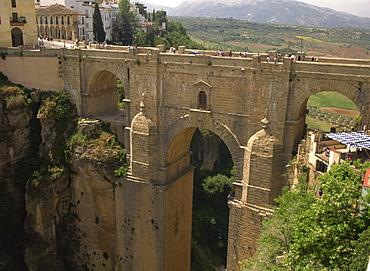 The new bridge over the Tajo, Ronda, Andalucia, Spain, Europe