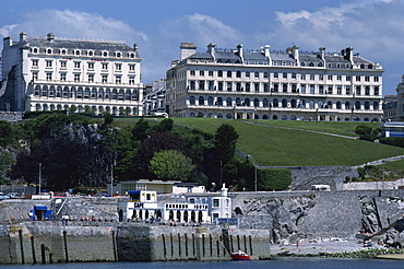 Regency houses including Lady Astor's House, Plymouth Hoe, Plymouth, Devon, England, United Kingdom, Europe - 6-4857