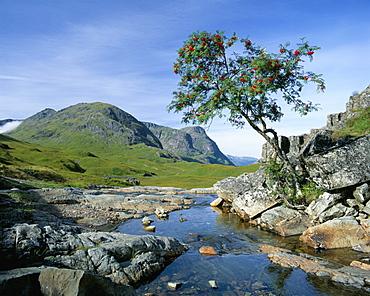 The Three Sisters of Glencoe, Highland region, Scotland, United Kingdom, Europe