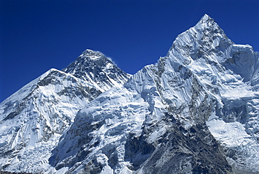 Snow-capped peak of Mount Everest, seen from Kala Pattar, Himalaya mountains, Nepal, Asia