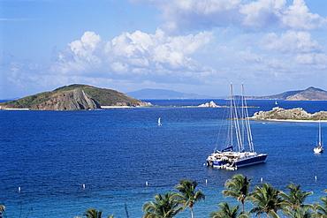 Boats off Dead Man's Beach, Peter Island Resort, British Virgin Islands, West Indies, Caribbean, Central America