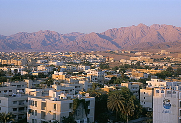 View of the city, Aqaba, Jordan, Middle East