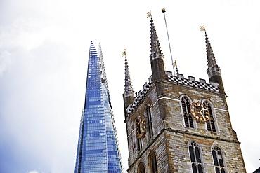 The Shard, Southwark Cathedral, London, England, United Kingdom, Europe