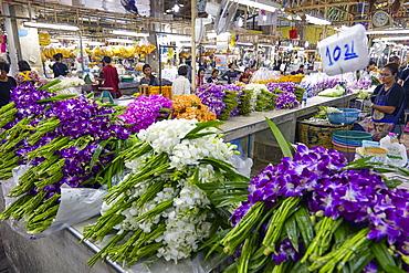 Yodpiman Flower Market, Bangkok, Thailand, Southeast Asia, Asia
