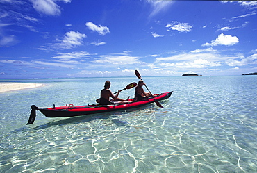 Kayaking, Aitutaki, Cook Islands