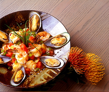 Shrimp and mussels, Hawaii, United States of America, Pacific