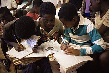 Children in school in Espungabera, Mamica province, Mozambique, Africa