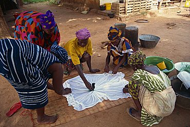 Tie-dyeing, The Gambia, West Africa, Africa
