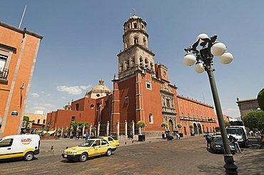 Tower of the convent church of San Francisco, Santiago de Queretaro (Queretaro), UNESCO World Heritage Site, Queretaro State, Mexico, North America