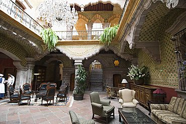 La Casa de la Marquesa Hotel in Santiago de Queretaro (Queretaro), a UNESCO World Heritage Site, Queretaro State, Mexico, North America