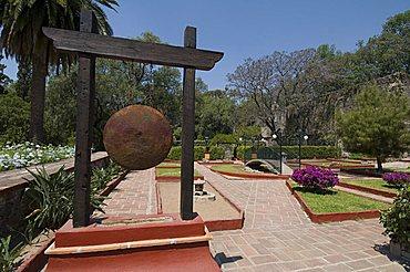 Gardens in Hacienda San Gabriel de Barrera, Guanajuato, Guanajuato State, Mexico, North America