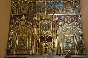 In the private chapel for the house of the Hacienda San Gabriel de Barrera, in Guanajuato, a UNESCO World Heritage Site, Guanajuato State, Mexico, North America