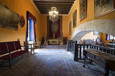 Inside the main house of the Hacienda San Gabriel de Barrera, in Guanajuato, a UNESCO World Heritage Site, Guanajuato State, Mexico, North America