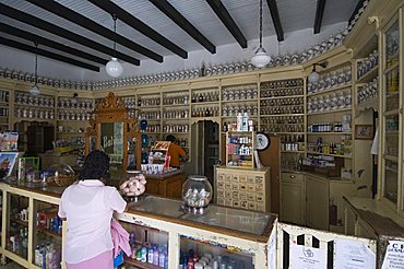 A pharmacy in San Miguel de Allende (San Miguel), Guanajuato State, Mexico, North America