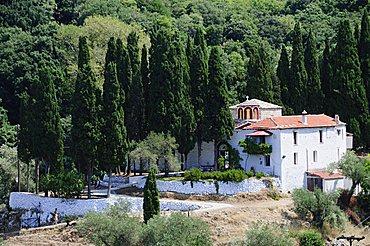 Monastery Sotira, Skopelos, Sporades Islands, Greek Islands, Greece, Europe