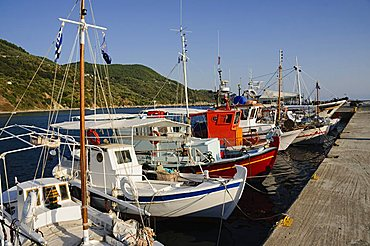 Loutraki harbour, Skopelos, Sporades Islands, Greek Islands, Greece, Europe
