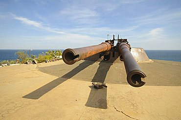 Guns, Goree Island famous for its role in slavery, near Dakar, Senegal, West Africa, Africa