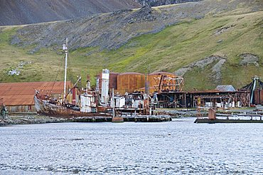 Old whaling station, Grytviken, South Georgia, South Atlantic