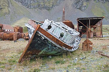 Old whaling station, Grytviken, South Georgia, South Atlantic
