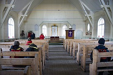 Church at Grytviken where Shackleton's funeral was held, South Georgia, South Atlantic