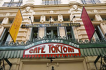 Cafe Tortoni, a famous tango cafe restaurant located on Avenue de Mayo, Buenos Aires, Argentina, South America