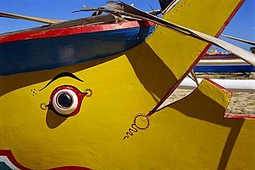 Boat on Sanur Beach outside Bali Hyatt Hotel, Bali, Indonesia, Southeast Asia, Asia