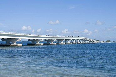 Bridge connecting Sanibel Island to mainland, Gulf Coast, Florida, United States of America, North America