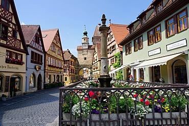 Rothenburg ob der Tauber, Romantic Road, Franconia, Bavaria, Germany, Europe
