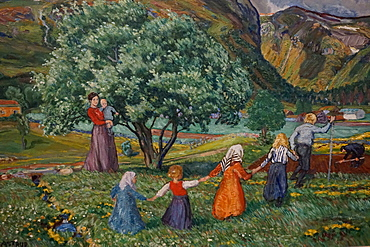 Summer and Playing Children by Nikolai Astlrup, KODE 3 Art Museum, Bergen, Hordaland, Norway, Scandinavia, Europe