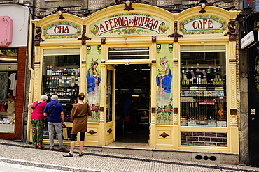 Highly decorated shop, Porto (Oporto), Portugal, Europe
