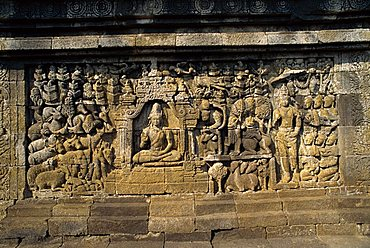 Buddhist temple, Borobudur, UNESCO World Heritage Site, Java, Indonesia, Southeast Asia, Asia