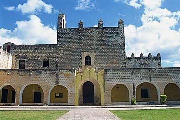 Iglesia de San Bernardino de Siena, Valladolid, Yucatan, Mexico, North America