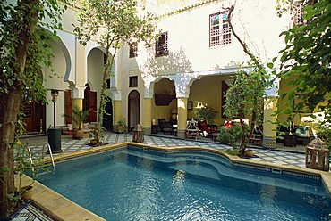 Ryad Maison Blea, a small hotel, Fez, Morocco, North Africa, Africa