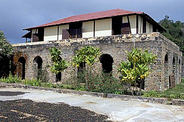 The Cafetal La Isabelica, an old coffee plantation in hills above Santiago, Cuba, West Indies, Central America