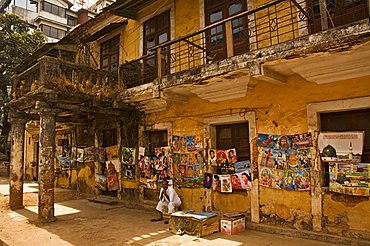 Decaying house in  Panaji formerly known as Panjim, Goa, India