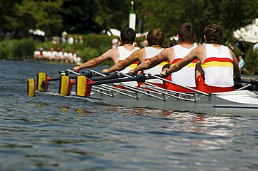 Rowing at the Henley Royal Regatta, Henley on Thames, England, United Kingdom, Europe