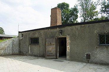 Crematorium, Auschwitz concentration camp, now a memorial and museum, UNESCO World Heritage Site, Oswiecim near Krakow (Cracow), Poland, Europe