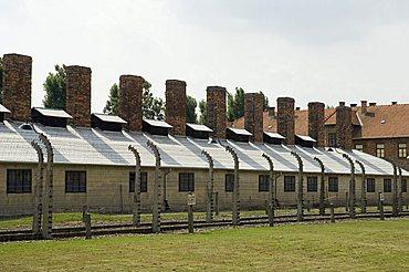 Auschwitz concentration camp, Oswiecim, UNESCO World Heritage Site, near Krakow (Cracow), Poland, Europe