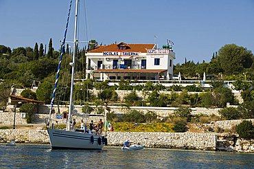 Nicola's taverna, Fiskardo, Kefalonia (Cephalonia), Ionian Islands, Greece, Europe