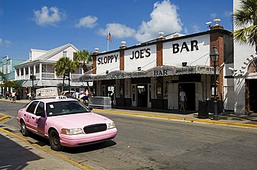Sloppy Joe's Bar, famous because Ernest Hemingway drank there, Duval Street, Key West, Florida, United States of America, North America