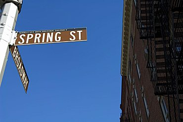 Spring Street, Soho, Manhattan, New York City, New York, United States of America, North America