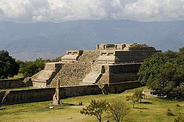 Building 5 at the ancient Zapotec city of Monte Alban, near Oaxaca City, Oaxaca, Mexico, North America