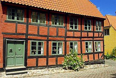 Colourful house, Aeroskobing, Aero, Denmark, Scandinavia, Europe