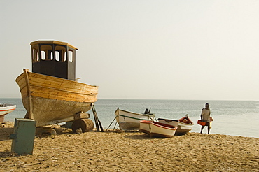 The main town of Sal Rei, Boa Vista, Cape Verde Islands, Atlantic, Africa