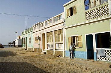 The main town of Sal Rei, Boa Vista, Cape Verde Islands, Africa