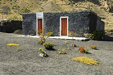 Typical house with attractive garden, in the volcanic caldera, Fogo (Fire), Cape Verde Islands, Atlantic, Africa