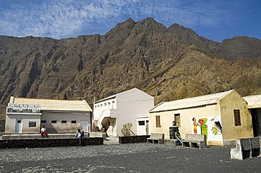 Local school in the volcanic caldera, Fogo (Fire), Cape Verde Islands, Africa